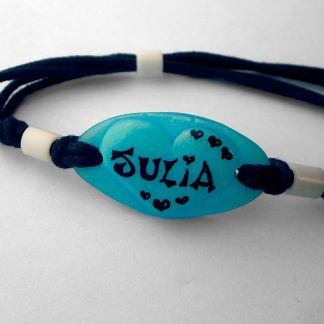 Pulsera Corazón Corazones Azul