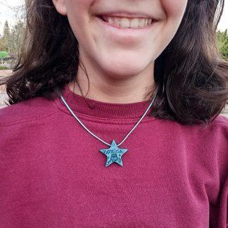 Collar Estrella Búho Azul